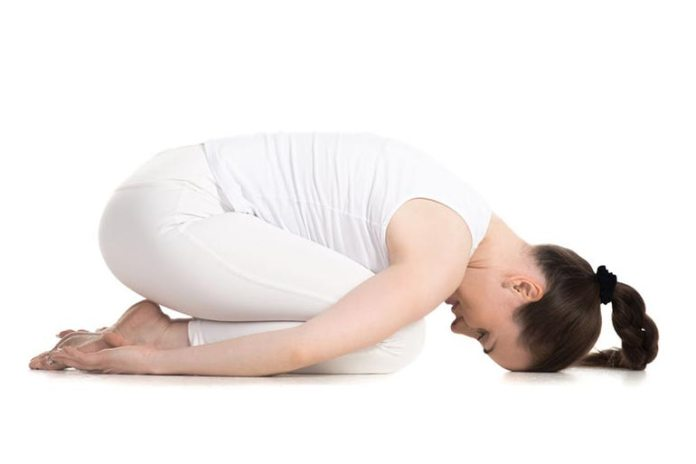Shashankasana or Hare Pose makes your breathing muscles stronger, giving you better breathing power.