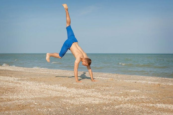 The upside-down kicks are fun to practice and improve flexibility