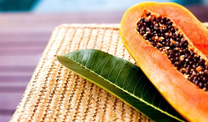 Papaya gently exfoliates and citrus lightens skin