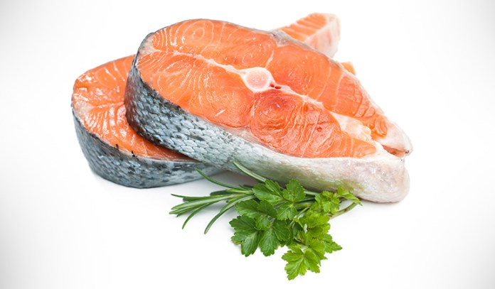 Omega 3 fats in salmon build heart health