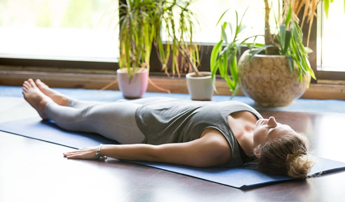 Shavasana to help you relax your mind and body