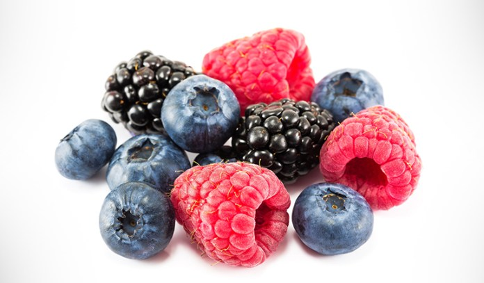 Super foods contains berries and veggies