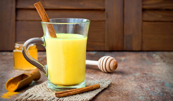Add turmeric to milk to treat respiratory issues