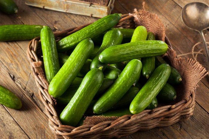 Cucumbers keep you hydrated and healthy.