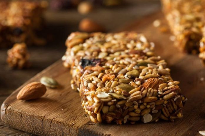 Store-bought energy bars are laden with saturated fat, sugar, and sodium