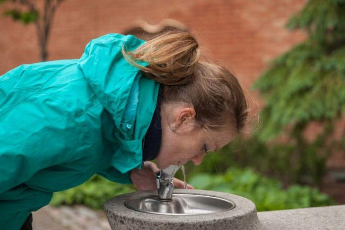 Do not take up the whole water fountain when others need it
