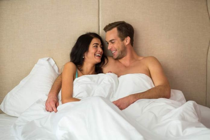 Healthy couples aren't afraid to laugh or have fun in the bedroom.