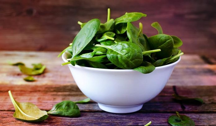 Just a couple of servings of leafy greens is recommended per day