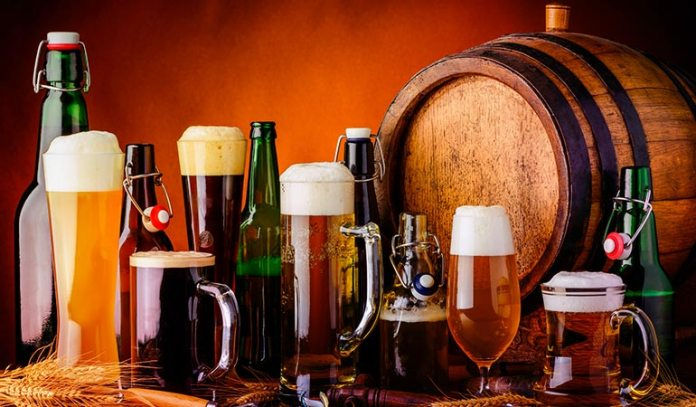 (Alcoholic drinks contain certain allergens that cause brain fog