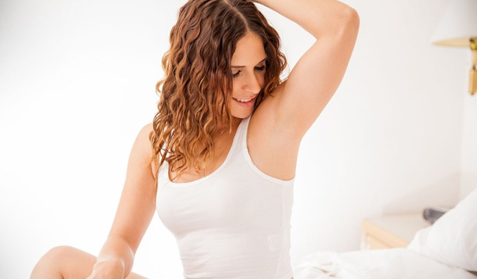 Check your armpits to rule out enlarged lymph nodes
