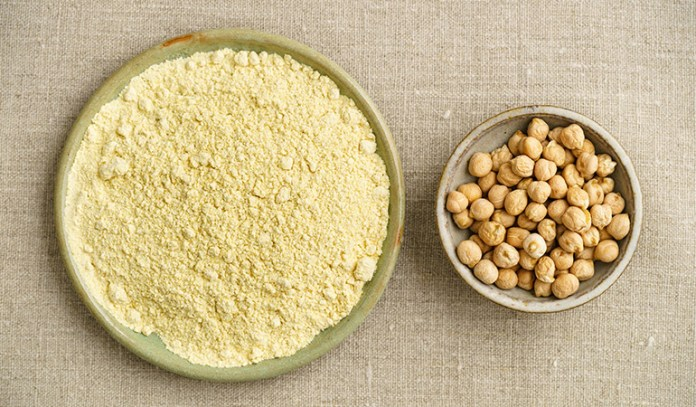 Chickpea flour gets rid of dead skin and adds a gentle glow to the face.