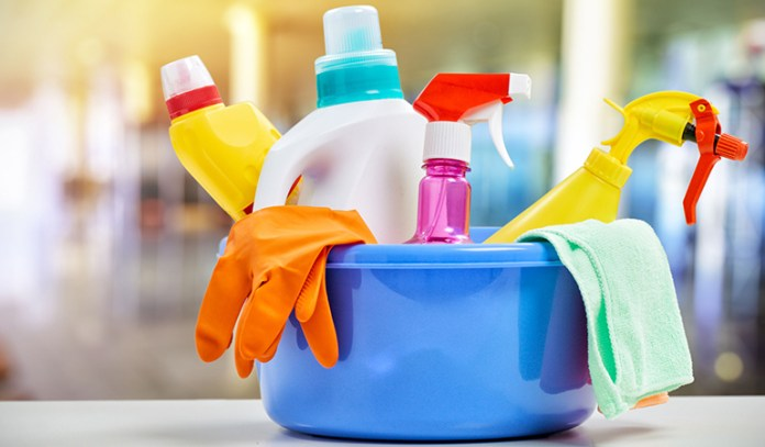 Cleaning products contain emulsifiers that are harmful to your health
