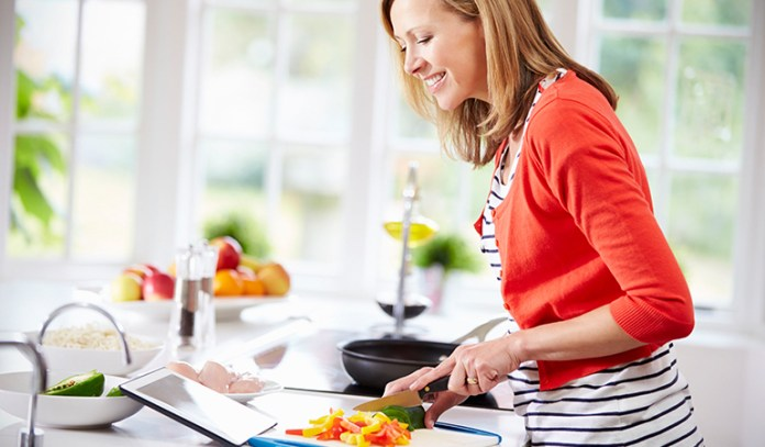 Cooking is relaxing and can help you watch what you eat.