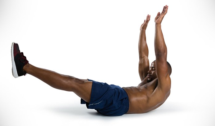 Dead bug exercise builds core strength.
