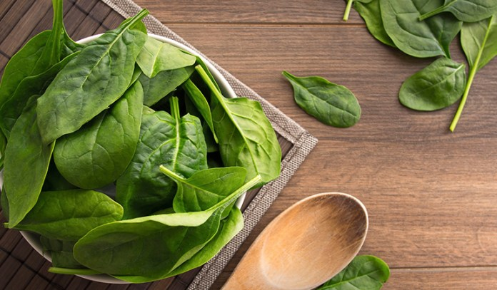 Spinach, kale, and carrots are sufficient for hair health
