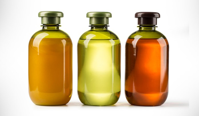To make a natural hair growth treatment, mix 10 drops each of peppermint, rosemary, and lavender to neutral baby shampoo.