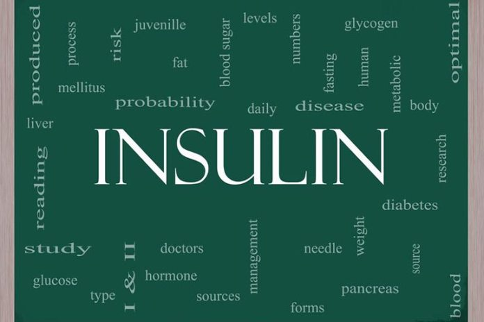 Insulin is secreted by the pancreas when blood sugar levels rise