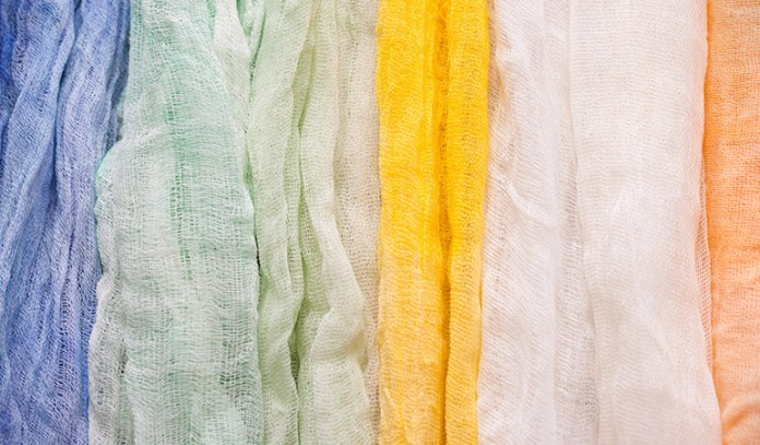 Muslin cloth is good for gentle cleansing and exfoliation.