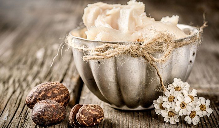 moisturize irritated skin with shea butter