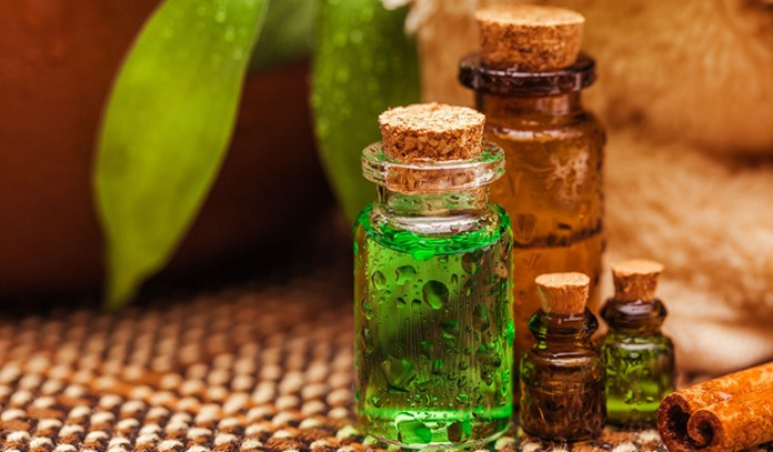 Add tea tree essential oil to shampoo to get rid of fungal overgrowth and inflammation.