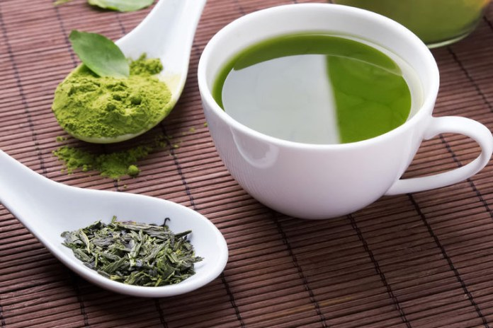 Quench thirst by drinking green tea.