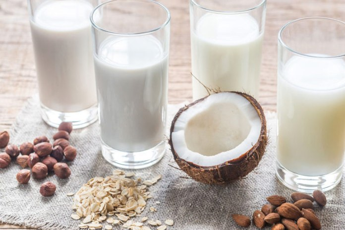 Almond milk and soy milk are a healthy alternative for normal milk