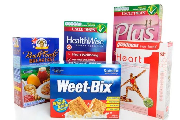 Boxed cereals are loaded with salts