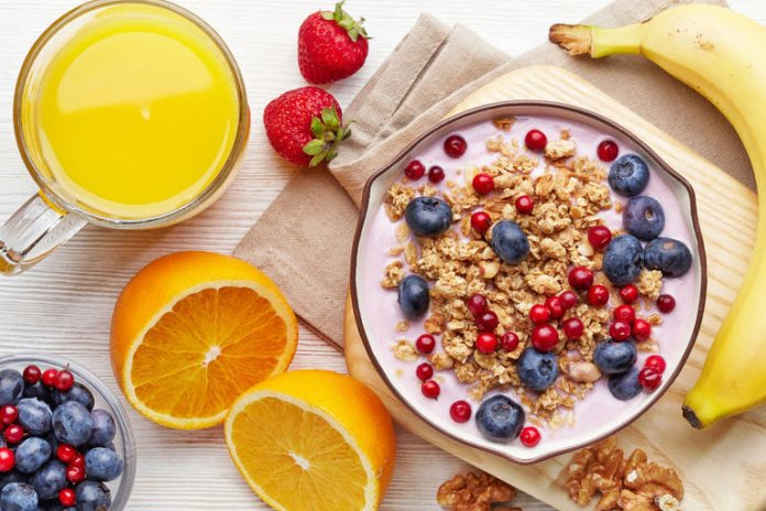 Eat a wholesome breakfast in the morning.
