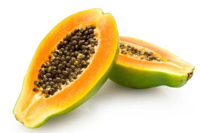 Lemon juice lightens skin and papaya prevents future breakouts.
