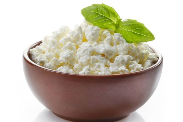 Cottage cheese is filled with salts
