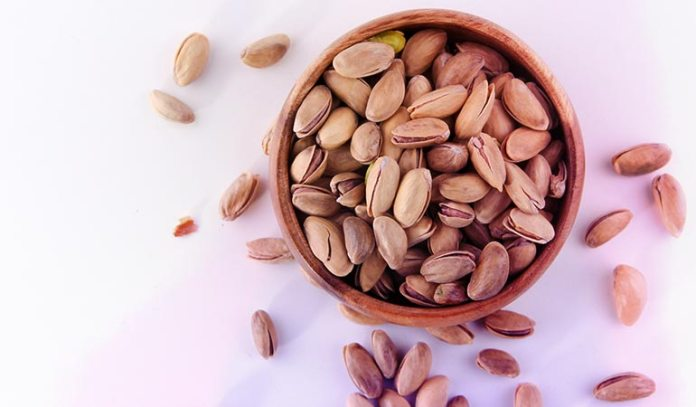 (Nuts have a high content of satisfying trifecta of protein, healthy fats, and fiber