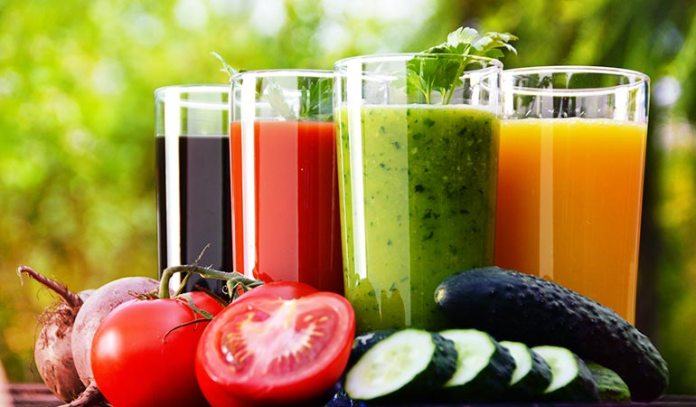 Vegetable juices are packed with essential nutrients
