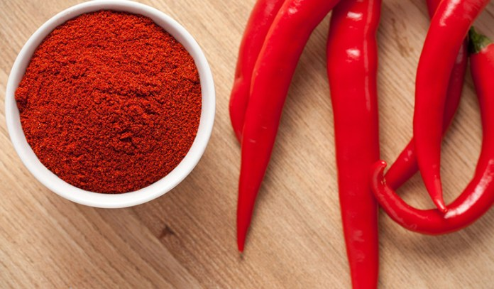 Hot pepper contains capsaicin that burns fat into energy