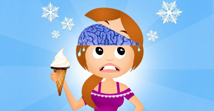Ice cream can cause brain freeze
