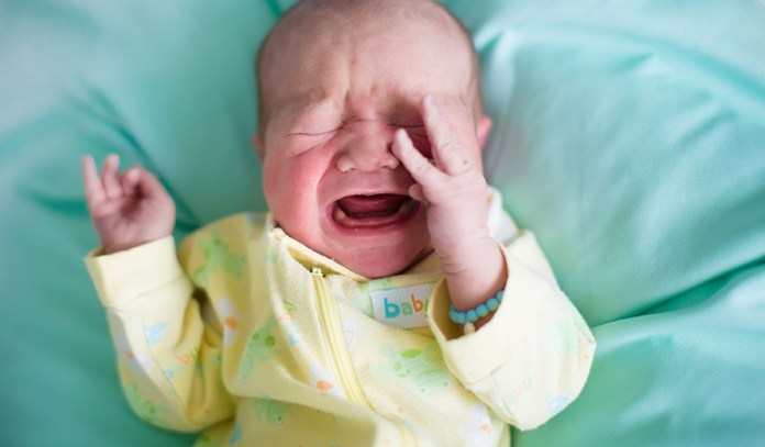 A crying baby is obvious but that can aggravate the mother's tension