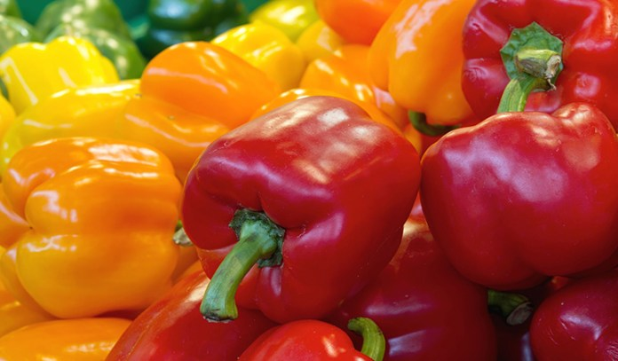 Bell peppers are a rich source of vitamin A and C and antioxidants