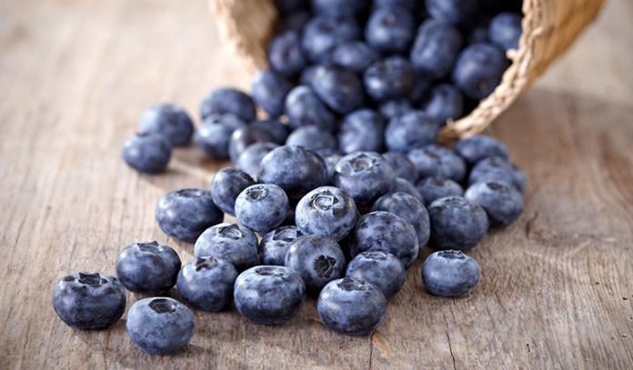 Blueberries have 14.74 grams of sugar per cup.