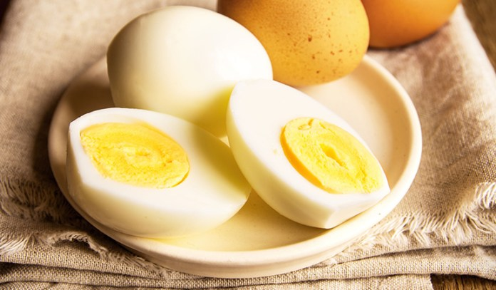 Boiled egg is a good source of vitamin A and protein