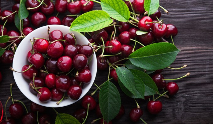 Cherries are great for fighting free radical damage