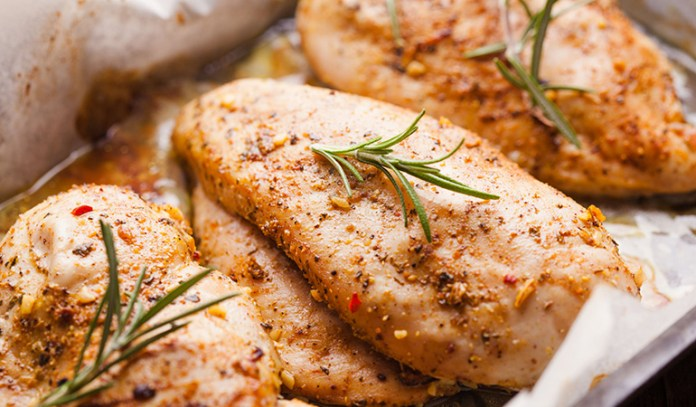 chicken dishes are full of extra sodium and calories to mask the bland flavor of poultry.