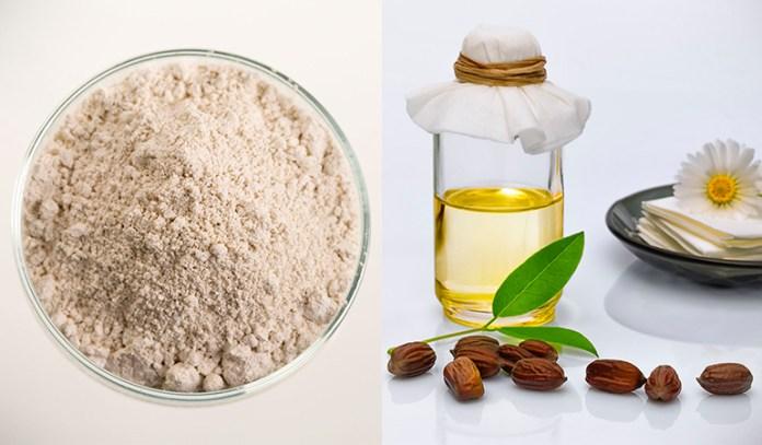 Clay and jojoba oil relieve acne.