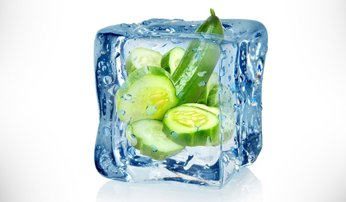 Honey and cucumber ice cubes will protect your skin from oxidative damage and keep it keep it feeling moisturized.