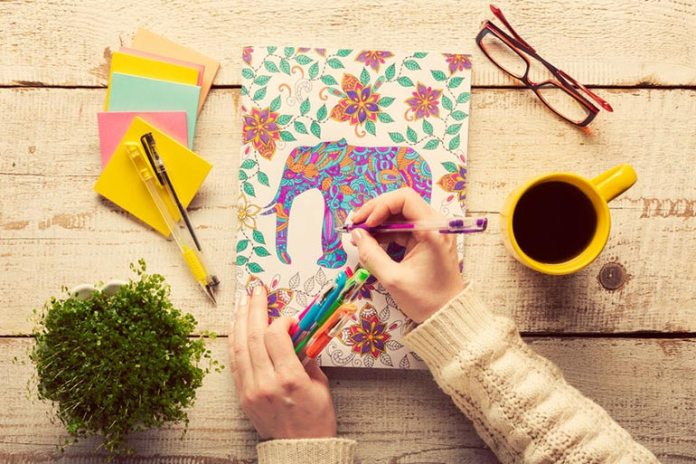 Colouring books are not just for kids but also for adults