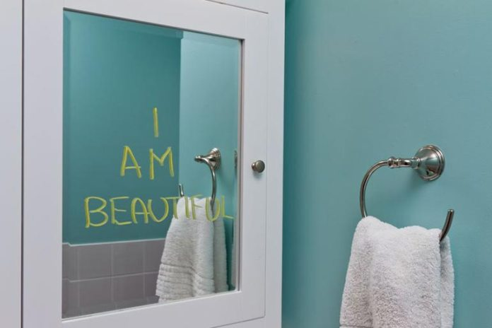 Happy, inspirational reminders to yourself can help you have a more positive day.