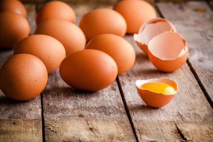 Vitamin A in eggs, reduces the blockage of sweat glands.