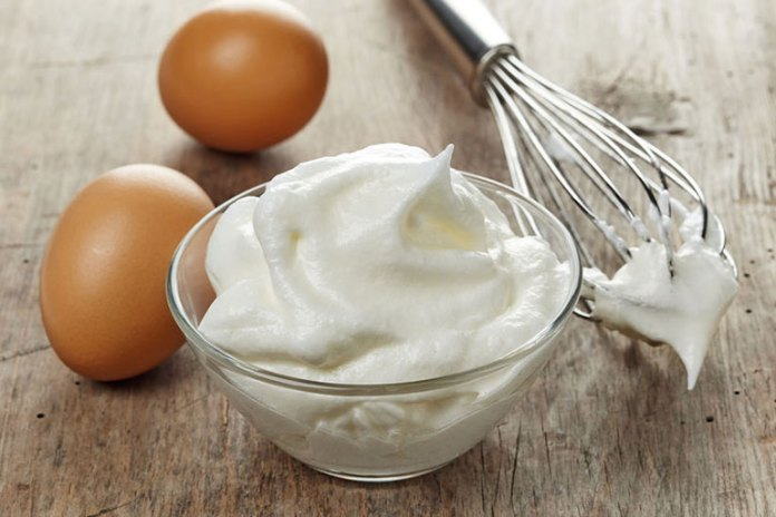 Egg whites contain protein and amino acids.