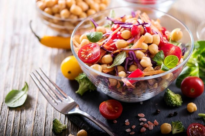 Add in chickpeas to your salads for a twist