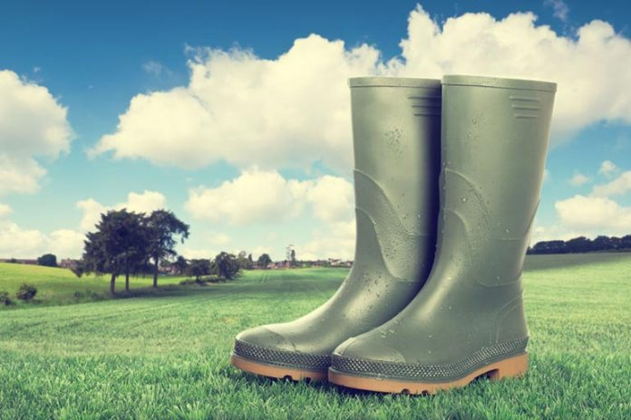Sprinkle some baby powder into your garden boots to prevent bad odor and to remove moisture