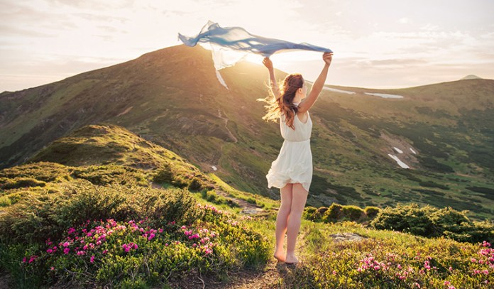 You feel energetic and lively in the midst of nature