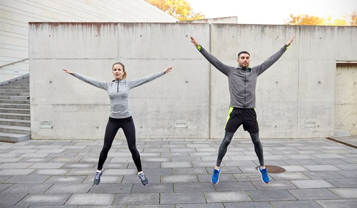 Jumping jacks boost your metabolism and increase the overall burning rate of your extra fat.